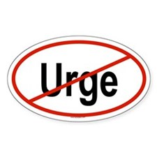 URGE Oval Decal