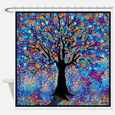 Colorful Tree Of Life Shower Curtain