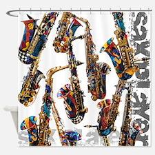 Saxophone Music Art Shower Curtain