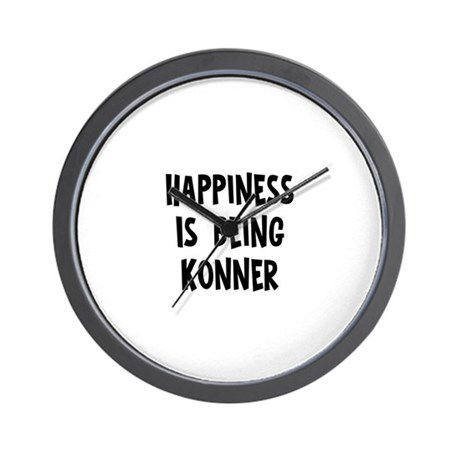 Happiness is being Konner Wall Clock
