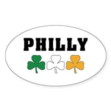 Philly Irish Shamrocks Oval Decal