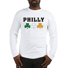 Philly Irish Shamrocks Long Sleeve T-Shirt