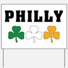 Philly Irish Shamrocks Yard Sign