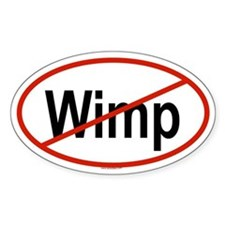 WIMP Oval Decal