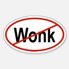 WONK Oval Decal