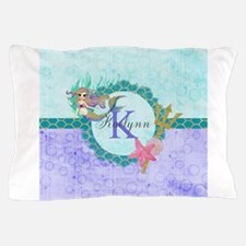 Personalized Monogram Mermaid Pillow Case