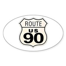MASS PIKE Oval Decal