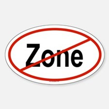 ZONE Oval Decal