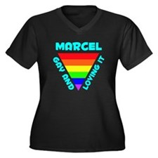 Marcel Gay Pride (#008) Women's Plus Size V-Neck D
