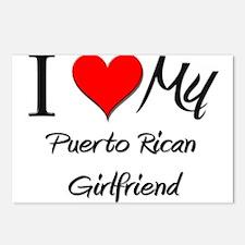 I Love My Puerto Rican Girlfriend Postcards (Packa