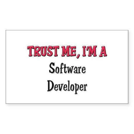 Trust Me I'm a Software Developer Sticker (Rectang