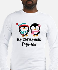 1st Christmas Together Penguin Couple Long Sleeve