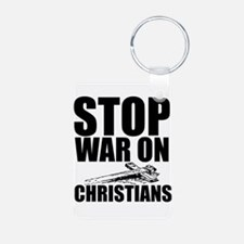 Stop War On Christians Keychains