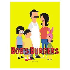 Bob's Burgers 8bit Wall Art Poster