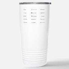 Proofing Marks Stainless Steel Travel Mug