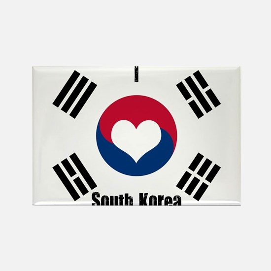 I Love South Korea Magnets
