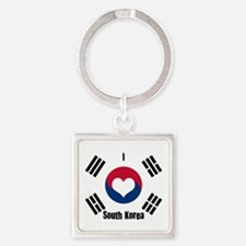 I Love South Korea Keychains