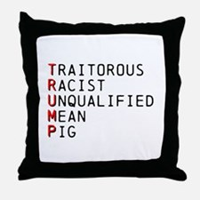 T is for Traitorous Throw Pillow