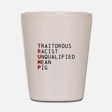 T is for Traitorous Shot Glass
