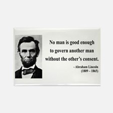 Abraham Lincoln 6 Rectangle Magnet