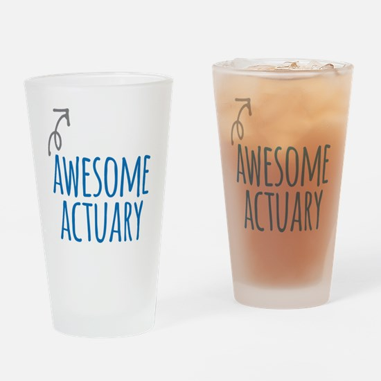 Awesome actuary Drinking Glass