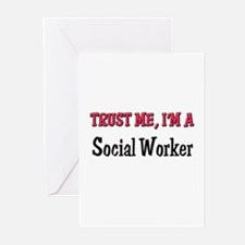 Trust Me I'm a Social Worker Greeting Cards (Pk of
