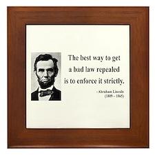 Abraham Lincoln 7 Framed Tile