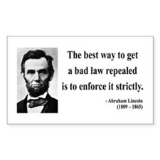Abraham Lincoln 7 Rectangle Decal