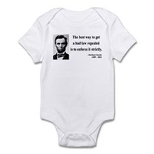 Abraham Lincoln 7 Infant Bodysuit