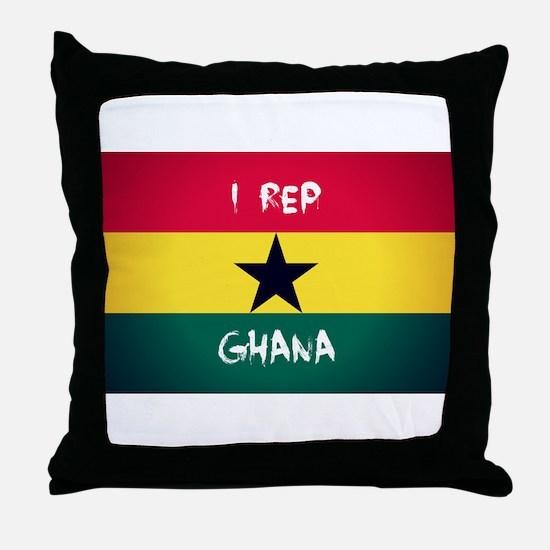I Rep Ghana Throw Pillow