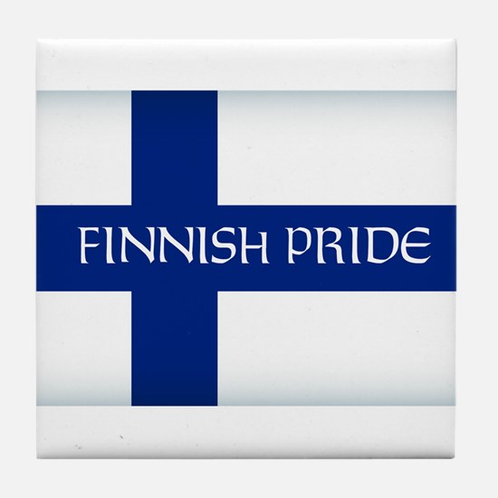 Finnish Pride Tile Coaster