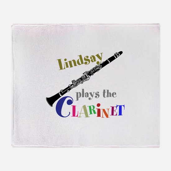 Your Name Plays The Clarinet Throw Blanket