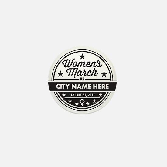 Womens March Personalized Mini Button
