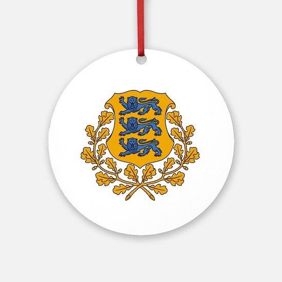 Estonian Coat of Arms Round Ornament