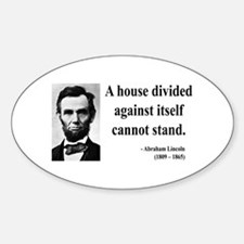 Abraham Lincoln 8 Oval Decal