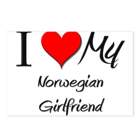 I Love My Norwegian Girlfriend Postcards (Package