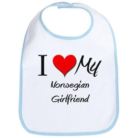 I Love My Norwegian Girlfriend Bib