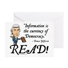 Thomas Jefferson - Read!<br> Greeting Cards (Packa