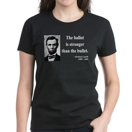 Abraham Lincoln 9 Women's Dark T-Shirt