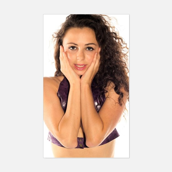 Funny Attractive woman Sticker (Rectangle)