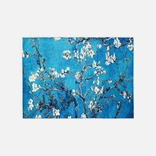 Almond Blossom Mystique, Van Gogh 5'x7'Area Rug