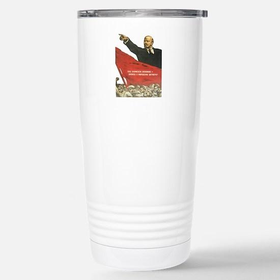 Vladimir Lenin soviet Stainless Steel Travel Mug