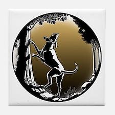 Hound Dog Art Hunting Dog Tile Coaster