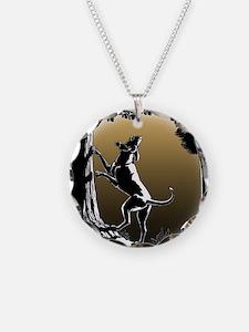 Hound Dog Art Hunting Dog Necklace