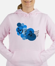 Blue Music Clefs Heart Sweatshirt