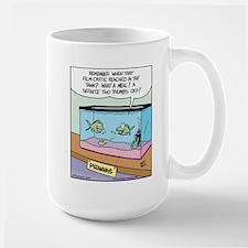 Film Critic Piranha Large Mug