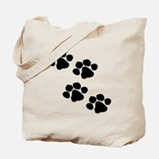 Pet Paw Prints Tote Bag