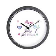 Anna - Daddy's Little Princes Wall Clock