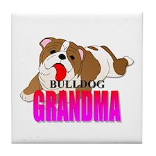 Bulldog Grandma Tile Coaster