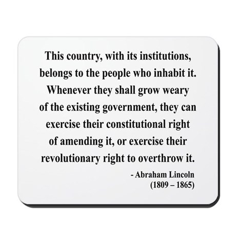 Abraham Lincoln 11 Mousepad